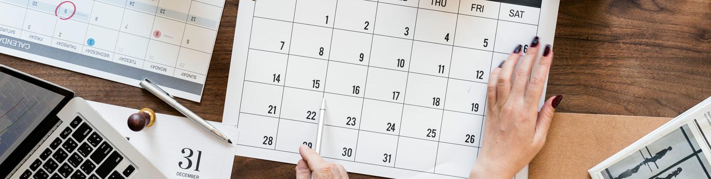 Calendário com as sessões plenárias do STF do primeiro semestre de 2020, que envolvem temas tributários